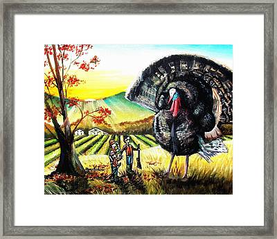 Whats For Dinner? Framed Print