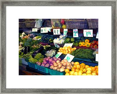 What's Fresh Today Framed Print