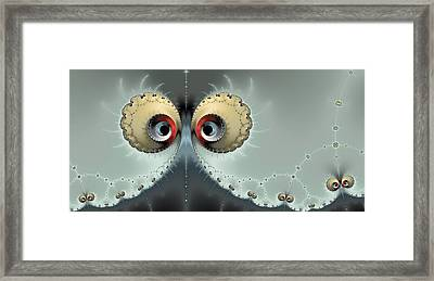 Whats Going On - Fractal Eyes Watching You Framed Print by Matthias Hauser