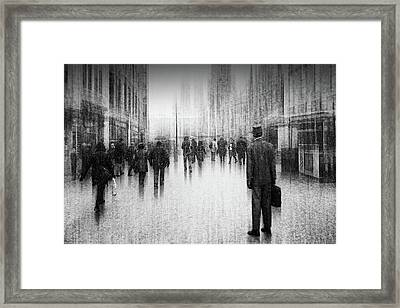 What's Going On Inside Of The City? Framed Print