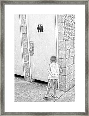 Hurry Up In There Framed Print