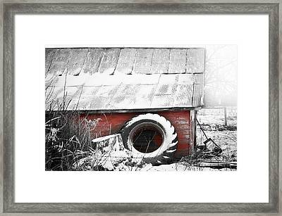 What's He Building In There Framed Print