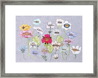 What's In A Flower Framed Print by Stephanie Callsen