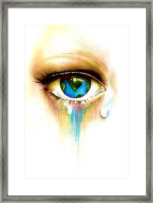 What's In A Tear? Framed Print by Andrea Carroll