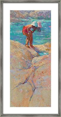 What's In The Rockpool? Framed Print by Jackie Simmonds