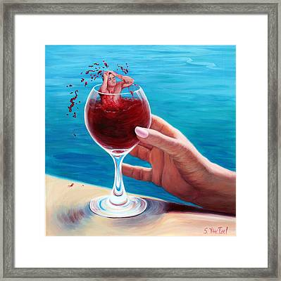 What's In Your Goblet? Framed Print
