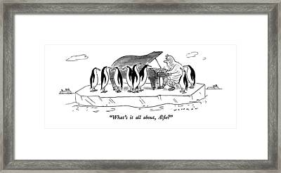 What's It All Framed Print by Bill Woodman