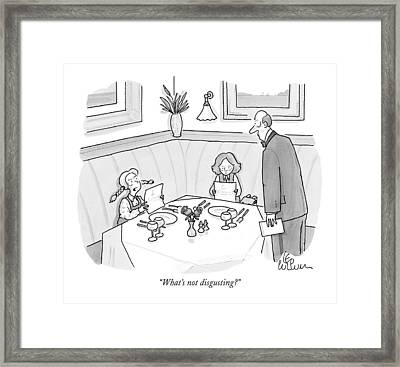 What's Not Disgusting? Framed Print by Leo Cullum