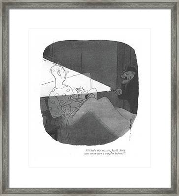 What's The Matter Framed Print by Rea Irvin