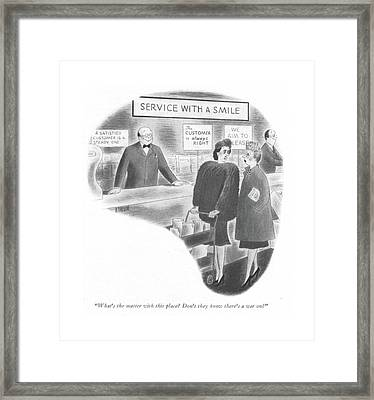 What's The Matter With This Place? Don't Framed Print by Richard Taylor