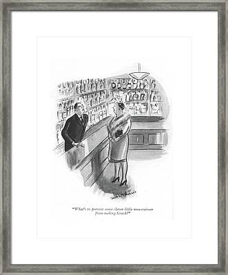 What's To Prevent Some Clever Little Mountaineer Framed Print by Helen E. Hokinson