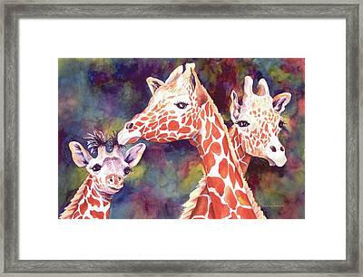 What's Up Dad - Giraffes Framed Print