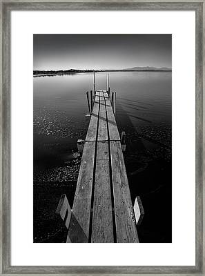Whats Up Dock Framed Print by Peter Tellone