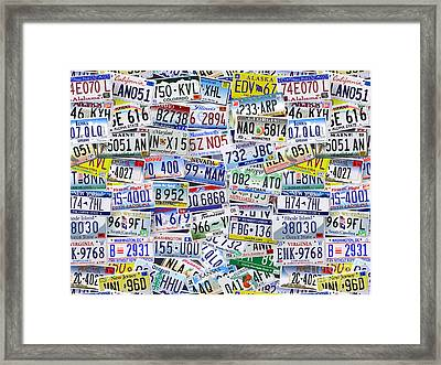 What's Your License? Framed Print