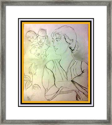 What's Your Story? Framed Print by Shweta Kumar