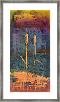 Wheat Couple Framed Print by Carolyn Doe