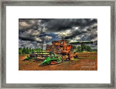 Wheat Field Fire 2 Framed Print by Reid Callaway
