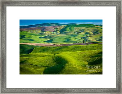 Wheat Hill Framed Print by Inge Johnsson