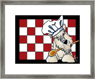Wheaten Terrier Chef Framed Print by Kim Niles