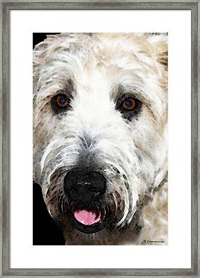 Wheaten Terrier - Happy Dog Framed Print by Sharon Cummings