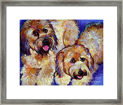 Framed Print featuring the painting Wheaten Terriers by Robert Phelps