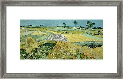 Wheatfields Near Auvers-sur-oise Framed Print by Vincent van Gogh