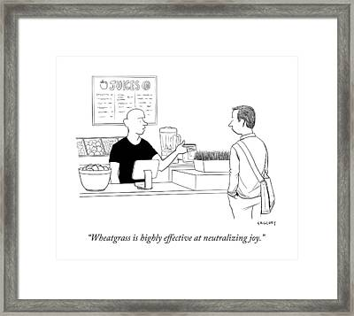 Wheatgrass Is Highly Effective At Neutralizing Framed Print by Alex Gregory