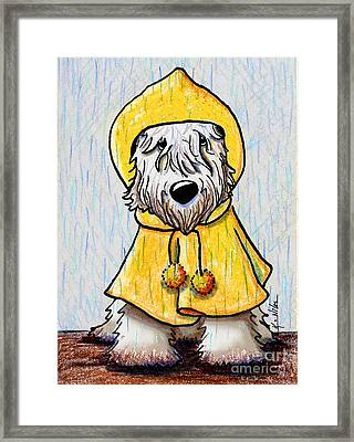 Wheatie In The Rain Framed Print by Kim Niles