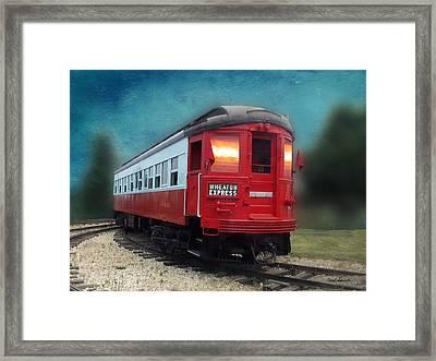 Wheaton Express Train Textured Framed Print