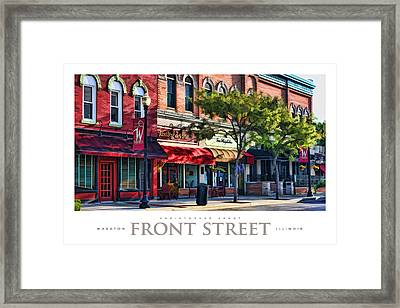 Wheaton Front Street Store Fronts Poster Framed Print by Christopher Arndt
