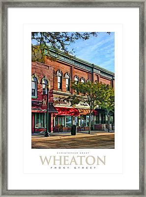 Wheaton Front Street Stores Poster Framed Print by Christopher Arndt