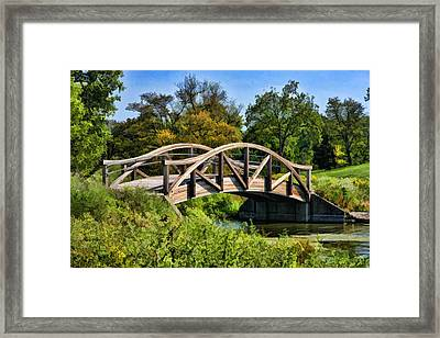 Wheaton Northside Park Bridge Framed Print