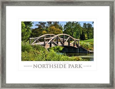 Wheaton Northside Park Bridge Poster Framed Print
