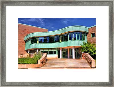 Wheaton Public Library Framed Print by Christopher Arndt