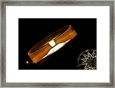 Wheeeeeeeeeeeee......... Framed Print by David Simons