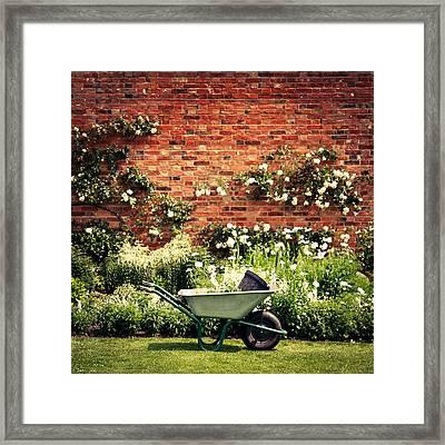 Wheeelbarrow Framed Print