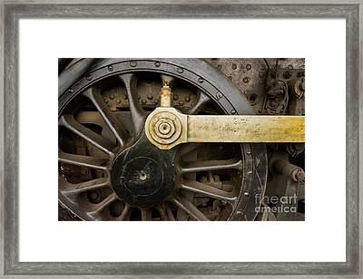 Wheel And Drive Rod Framed Print by Paul W Faust -  Impressions of Light