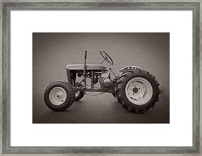 Wheel Horse Vintage Framed Print