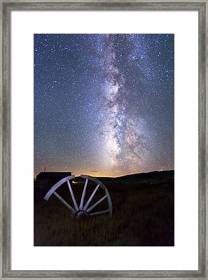 Wheel In The Sky Framed Print by Cat Connor