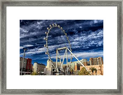 Wheel In The Sky Las Vegas Framed Print