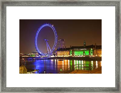 Wheel In The Sky Framed Print by Mike Lang