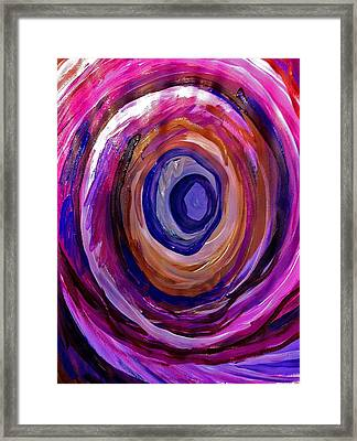 Wheel Framed Print by Laura Tarnoff