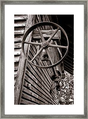 Wheel Of Labor  Framed Print by Olivier Le Queinec
