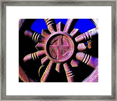 Buddhist Dharma Wheel 1 Framed Print