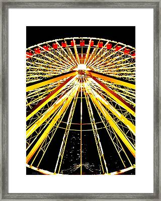 Wheel Of Light Framed Print by Benjamin Yeager