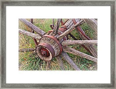 Wheel Of Old Framed Print by Marty Koch