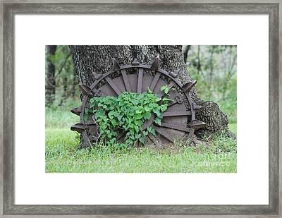 Wheel Of Steel Framed Print by GD Rankin