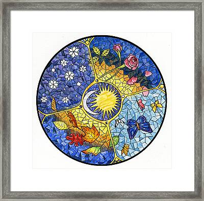 Wheel Of The Year Framed Print by Antony Galbraith