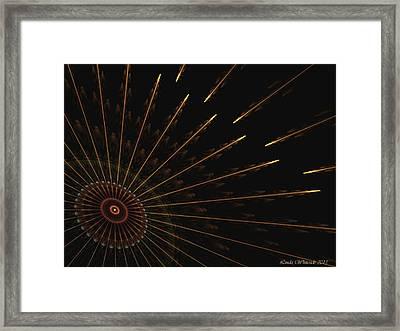 Framed Print featuring the digital art Wheel Of Time by Linda Whiteside