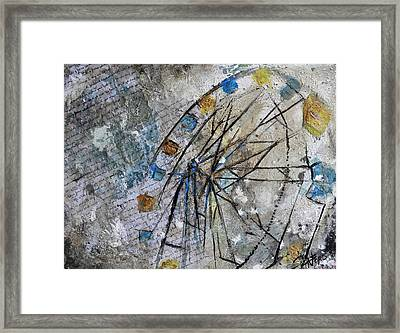 Wheel Power Framed Print by Amanda  Sanford